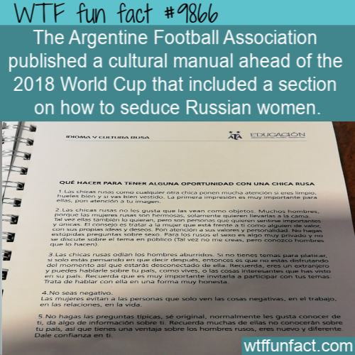 fun fact Argentine manual to woo Russians