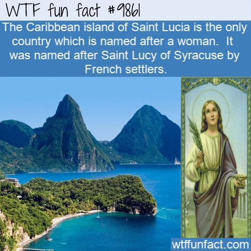 fun fact country saint lucia