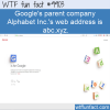 Fun Fact – Alphabet Inc web address