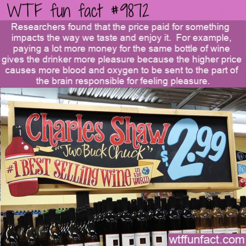 fun fact wine price impacts pleasure