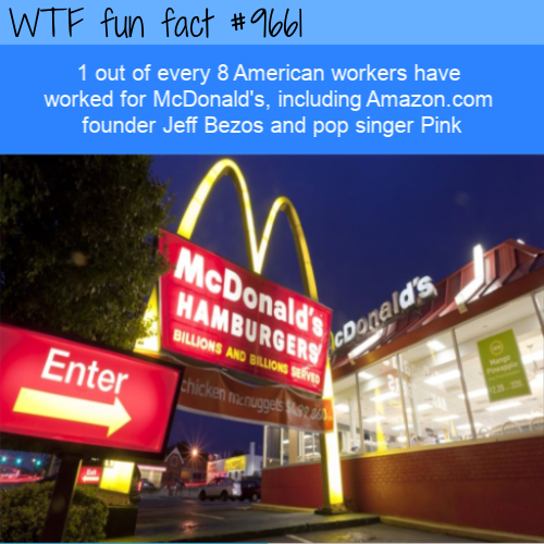 1 out of every 8 American workers have worked for McDonald's