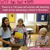 100 year old still teaches math in elementary school
