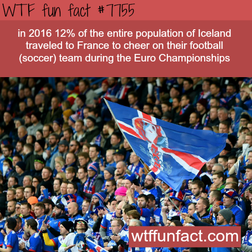 12% of Iceland population traveled to France to see a football match - WTF fun fact