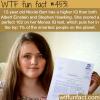 12 year old girl has higher iq than albert