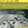 1995 a tank is stolen in california