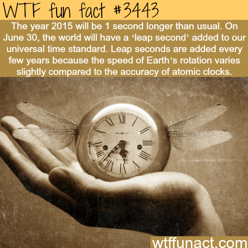 2015 will have an extra second - WTF fun facts