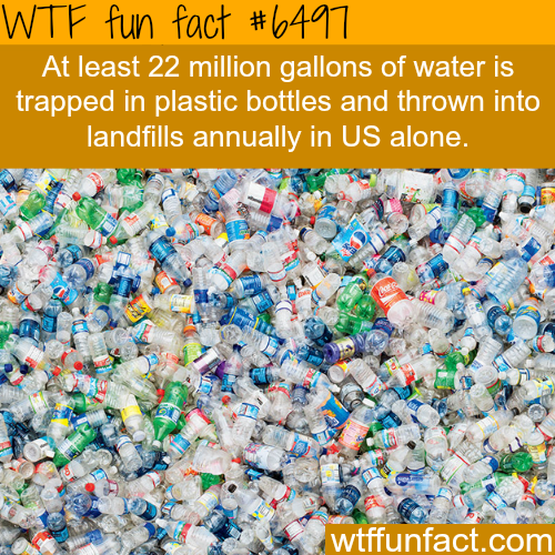22 million gallons of water are trapped in plastic bottle…- WTF fun facts