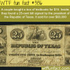 25 cent bill signed by the president of the republic of