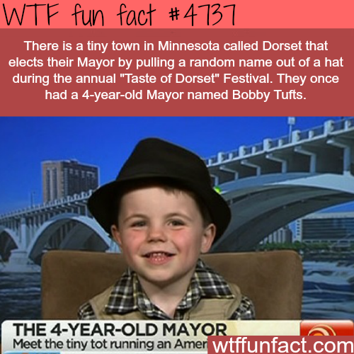 4-year-old mayor of a town in Minnesota - WTF fun facts