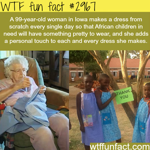 99 year old woman who made tens of kids smile -WTF fun facts