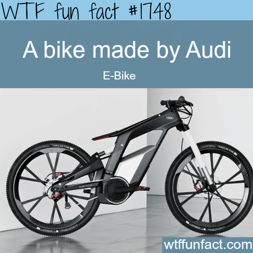 A Bike made by Audi  - WTF fun facts