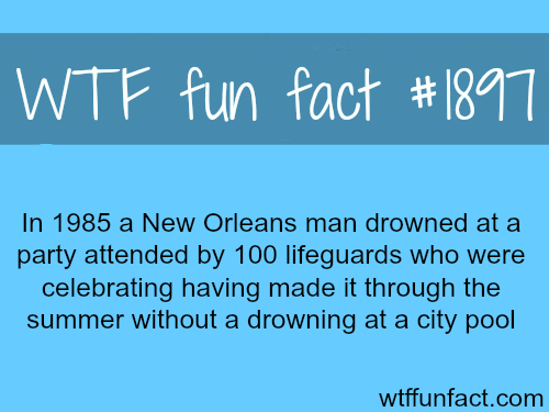 A man drowned in a party of 100 lifeguards -WTF fun facts