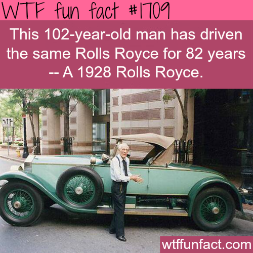 A man has driven the same car for 82 years - WTF fun facts