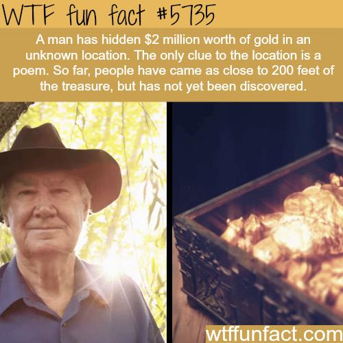 A man has hidden $2 million worth of gold
