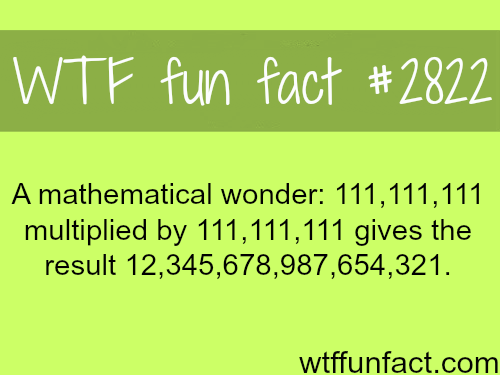 A mathematical wonder - WTF fun facts