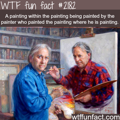 A painting within a painting…. - WTF fun facts