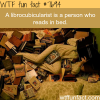 a person who reads in bed wtf fun facts