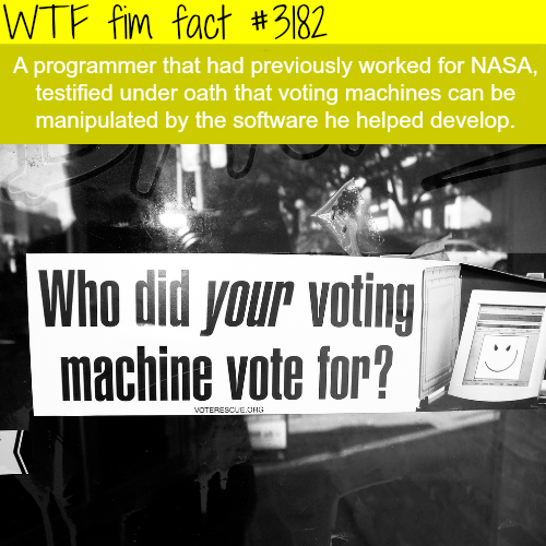 A programmer says that the elections are rigged -WTF fun facts