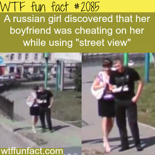 A Russian girl found her boyfriend cheating - WTF fun facts