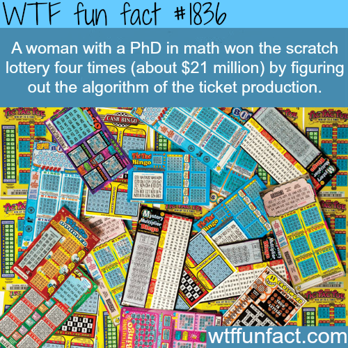the winner for 4 times in scarth lottery - WTF fun facts
