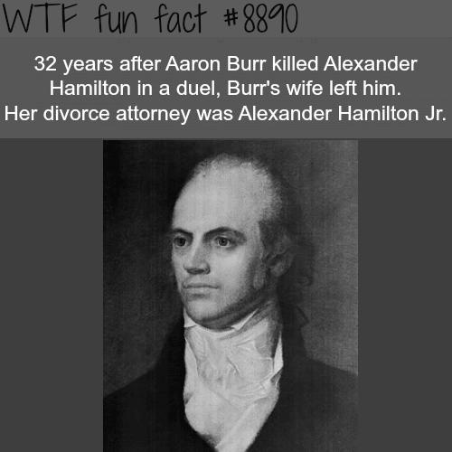 Aaron Burr and Alexander Hamilton - WTF fun facts