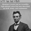 abraham lincoln wtf fun fact