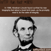 abraham lincoln wtf fun facts