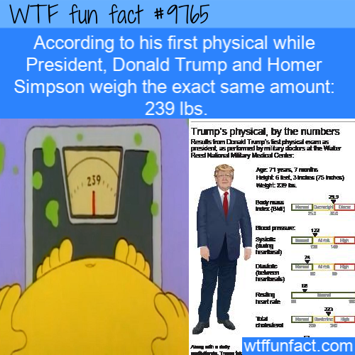 According to his first physical while President