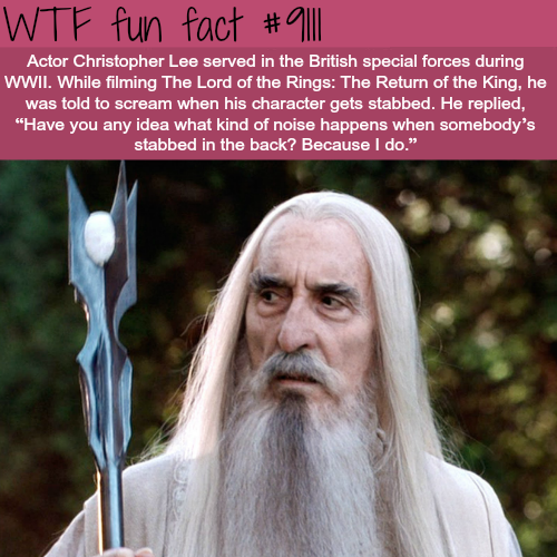 Actor Christopher Lee - WTF fun fact