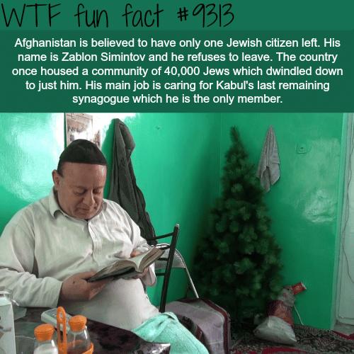 Afghanistan's last Jew - WTF fun fact