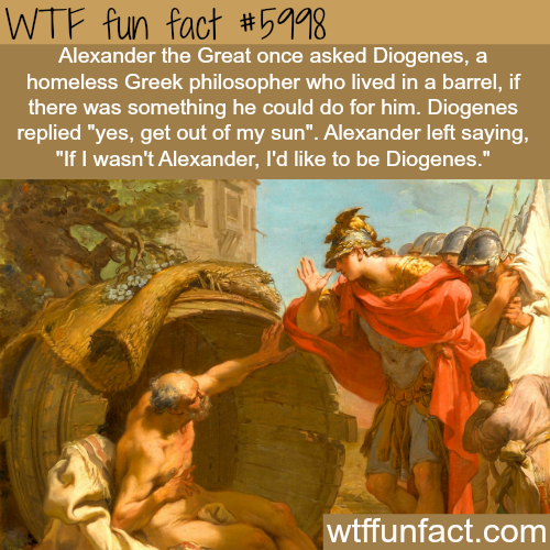 Alexander the Great and Diogenes -