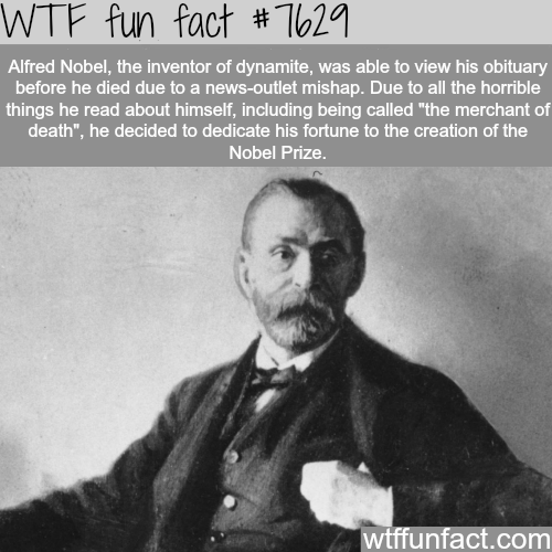 Alfred Nobel - WTF fun facts