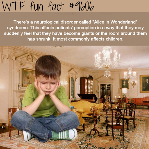 Alice in Wonderland syndrome - WTF fun fact