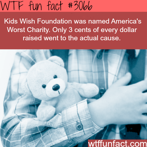 America's worst charity -WTF fun facts