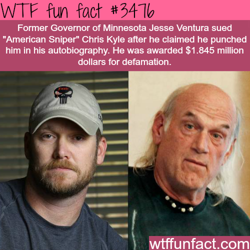 """American Sniper"" Chris Kyle and Jesse Ventura -  WTF fun facts"
