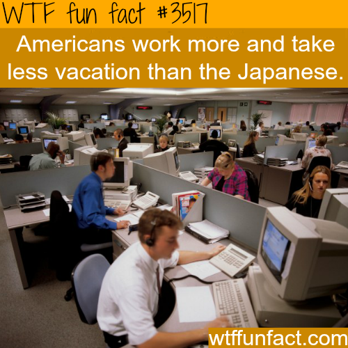 American work vs Japanese work - WTF fun facts