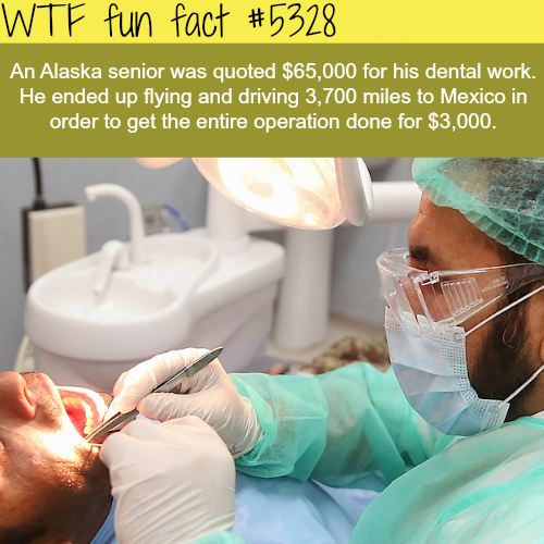 Americans are traveling to Mexico to avoid expensive health care - WTF fun facts