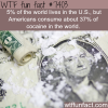 americans consume the most cocaine in the world