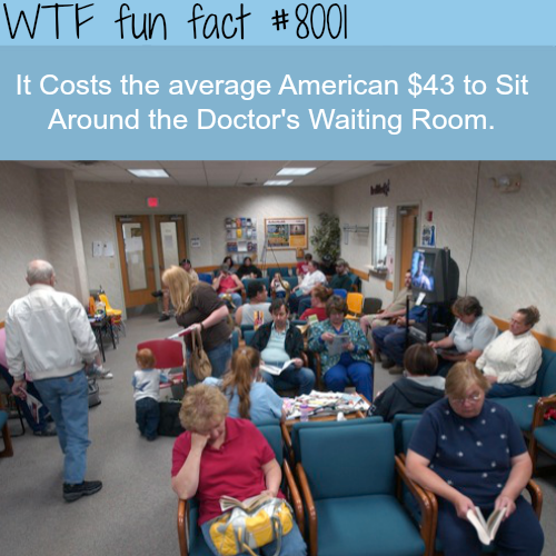 Americans spend $43 to sit and wait for doctors - WTF fun fact
