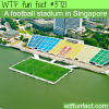 an amazing football stadium in singapore