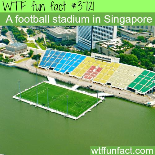 An amazing football stadium in Singapore - WTF fun facts