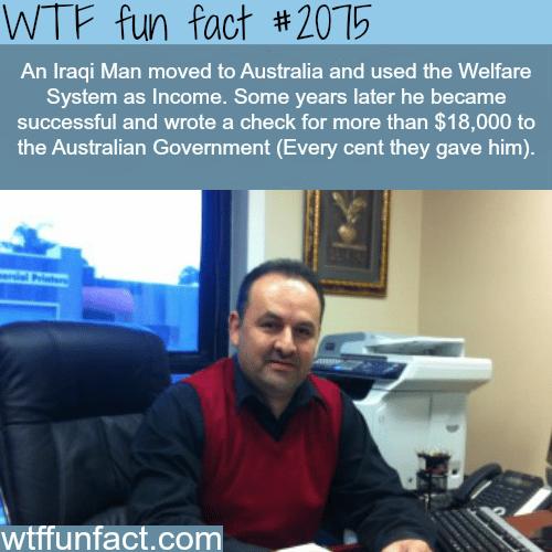 An Iraqi man moved to Australia -WTF fun facts