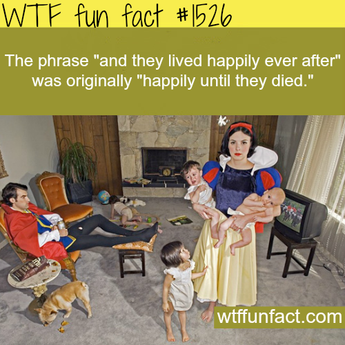 """""""And they lived happily ever after"""".wtf fun facts"""