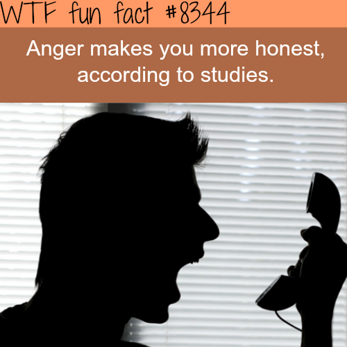 Anger makes you honest - WTF fun facts