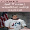 apollo 17 astronaut harrison schmitt is allergic