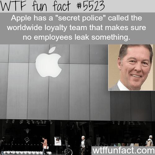 """Apple's """"secret police"""" - WTF fun facts"""