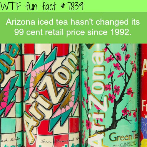 Arizona iced tea - WTF fun facts