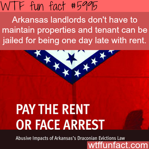 Arkansas tenant laws - WTF fun facts