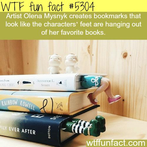 Artist Olena Mysnyk's bookmarks - WTF fun facts