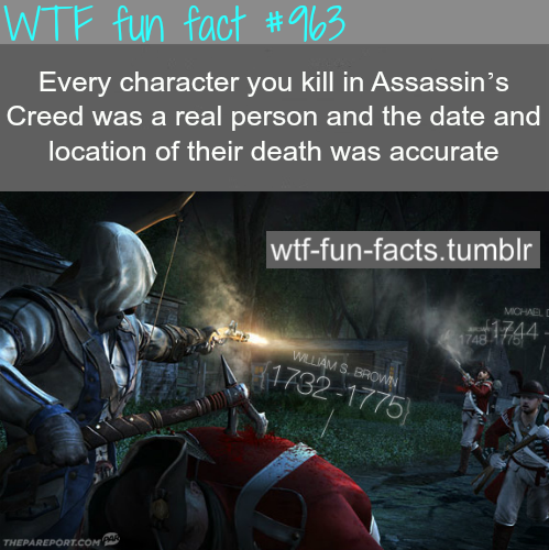 assassin creed - gaming facts